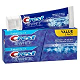 Crest 3D White Arctic Fresh Icy Cool Mint Flavor Whitening Toothpaste, 4.8 oz Twinpack (Pack of 12)