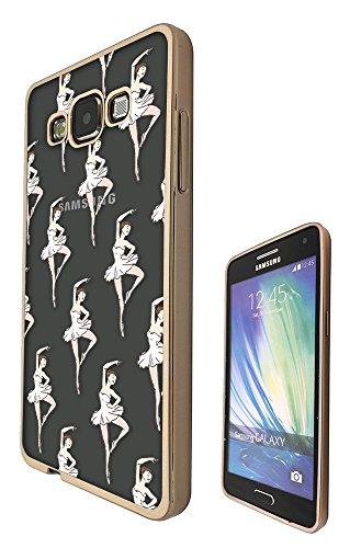 Tutu Grande (c00781 - Beautiful Dancers Ballerina Tutu Collage Design Samsung Galaxy Grand Prime G530 Fashion Trend CASE Gold & Clear Gel Rubber Silicone All Edges Protection Case Cover)