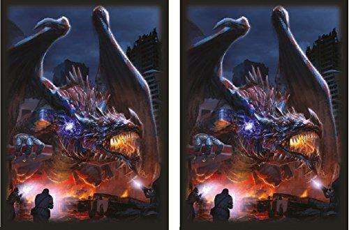 - HASTA LA VISTA 100 Matching GLOSS Finish Dragon Invasion Sleeves by MAX PRO (fits Magic / MTG, Pokemon Cards)