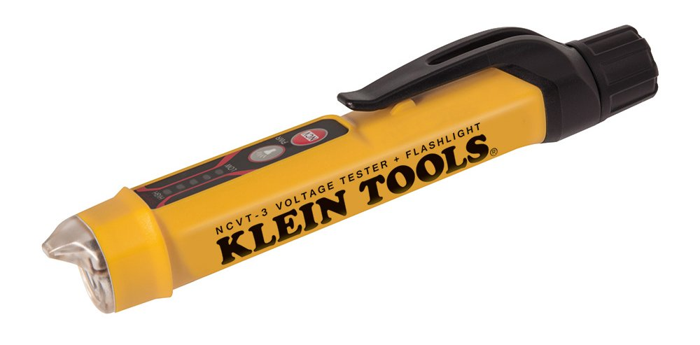 Klein Tools NCVT-3 Non-Contact Voltage Tester with Flashlight by Klein Tools