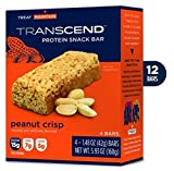 12 Peanut Crisp Best Tasting Low Carb Low Sugar Protein Bars – 15g Protein, 7g Net Carb, 5g Sugar Transcend Foods Review