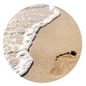 alfombrilla de ratón huellas en la arena de la playa - ronda - 20cm