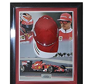 Signed Kimi Raikkonen Ferrari Framed Cap - Formula 1 - Autographed NASCAR Miscellaneous Items from Sports Memorabilia