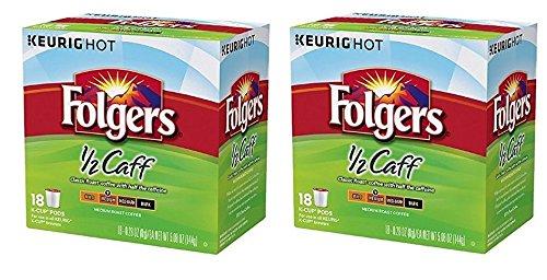 36 Count Folgers Half Caff Coffee K Cups For Keurig K
