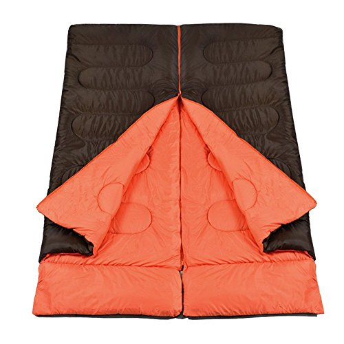 DEVAISE Outdoor Portable 3 Seasons 40-60 Degree Single Camping Sleeping Bags With Pillow