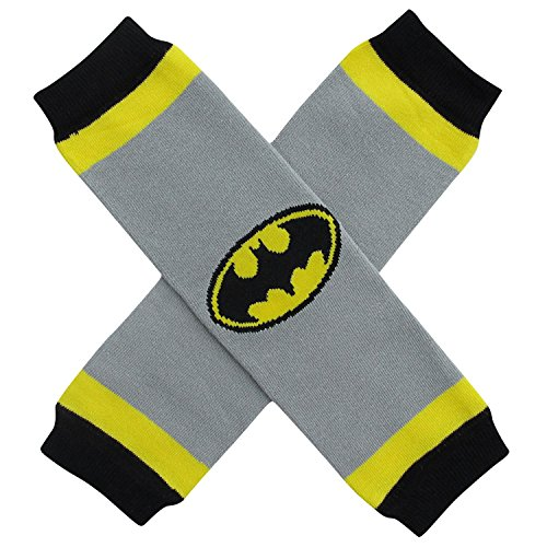 [Halloween Costume Spooky Styles Holiday Leg Warmers - One Size - Baby, Toddler, Girl (Batman - Black &] (Warm Costumes)