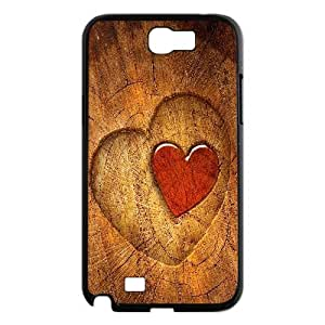 Vety Wood Heart Samsung Galaxy Note 2 Cases, {Black}