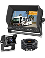 """Backup Camera for RV Trucks, VECLESUS VMH 1080P Wired Backup Camera Kit, 7"""" Wide Screen with Night Vision Backup Camera for Truck, RV, Bus, Harvester, Pickup, Motorhome, Van Heavy Duty Vehicles"""