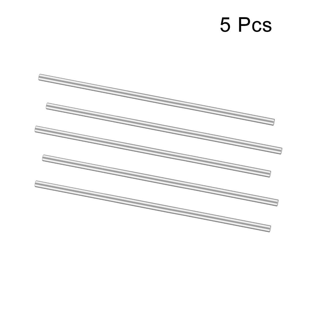 sourcing map Stainless Steel Solid Round Rods Metal Lathe Bar Stock for DIY Craft 100mmx2mm 25pcs