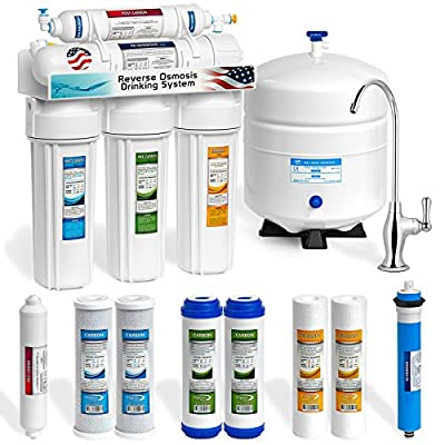 Express Water RO5DX 5 Stage Home Drinking Reverse Osmosis System plus Extra Full Set- 4 Water Filter