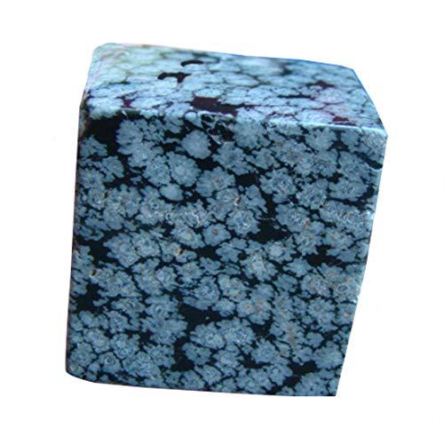 Gemquartz Ham7217 Snowflake Obsidian Geometic Cube Beauty