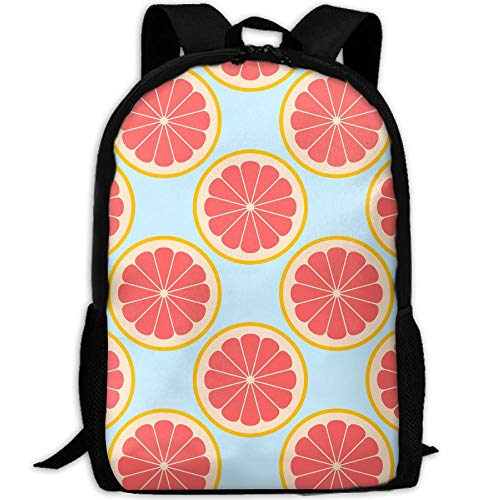 (Student Backpack, School Backpack For Laptop,Most Durable Lightweight Cute Travel Water Resistant School Backpack - Citrus Slices Grapefruit Giftwrap (3855))