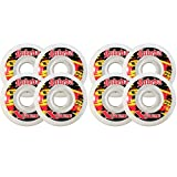 Labeda Wheels 80mm 94A EXTREME HARD WHITE 8-Pack Inline Outdoor Hockey