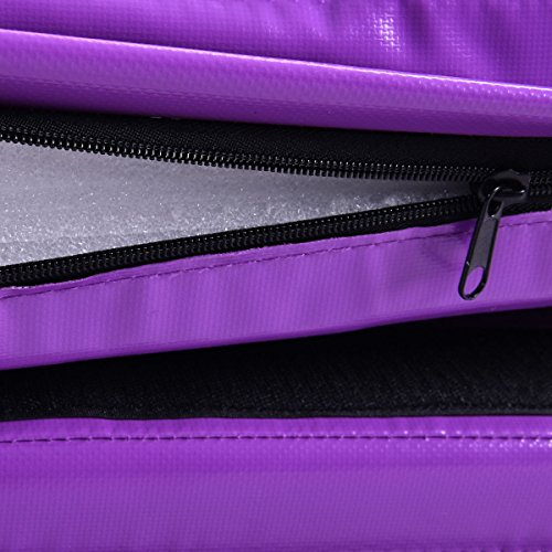 New 6'x38''X4'' Gymnastics Mat Thick Two Folding Panel Fitness Exercise Purple by MTN Gearsmith (Image #4)