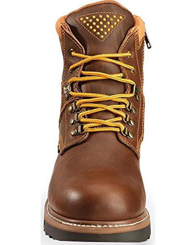 Dan Post Boots Dan Gripper Leather Mens Post Work Brown Mens Zipper UwTHq