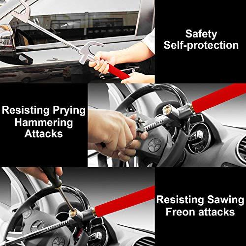 Xljh Coche Volante Bloqueo Anti Robo Auto Defensa Manillar Seguridad Embrague cerradurasCerradura del Volante con Martillo de Seguridad,Red: Amazon.es: ...