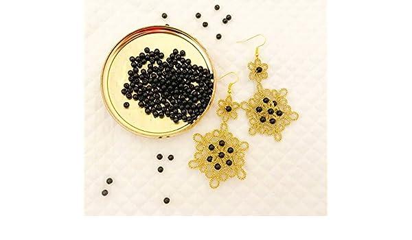 Pendientes de encaje encaje de bolillos | oro con perlas de ...