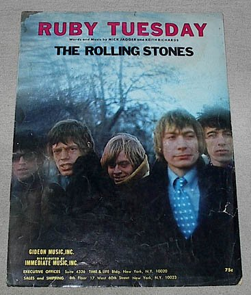 Download Ruby Tuesday Recorded by The Rolling Stones Sheet Music