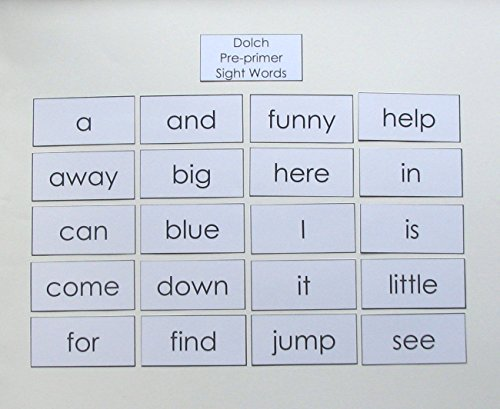 The Teacher Depot Teacher Made Literacy Learning Resource Dolch Pre-primer Sight Word Flashcards