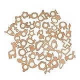 Baoblaze Wholesale 45pcs BPA FREE Natural Wood Teether for Baby Crib Pendant Findings