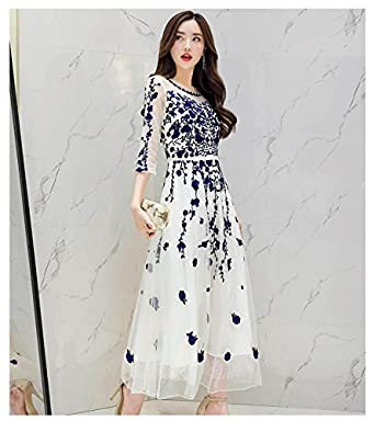 【春夏】ドレス/結婚式 パーティードレス シフォン ワンピース 刺? お呼ばれ フォーマル