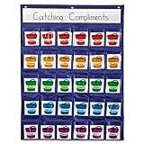 Wholesale CASE of 10 - Carson Reinforcement Pocket Chart -Reinforcement Pocket Chart, 22''x29'', Assorted