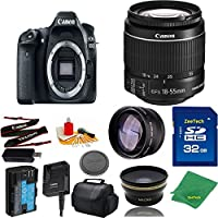 Great Value Bundle for 80D DSLR – 18-55mm STM + 32GB Memory + Wide Angle + Telephoto Lens + Case