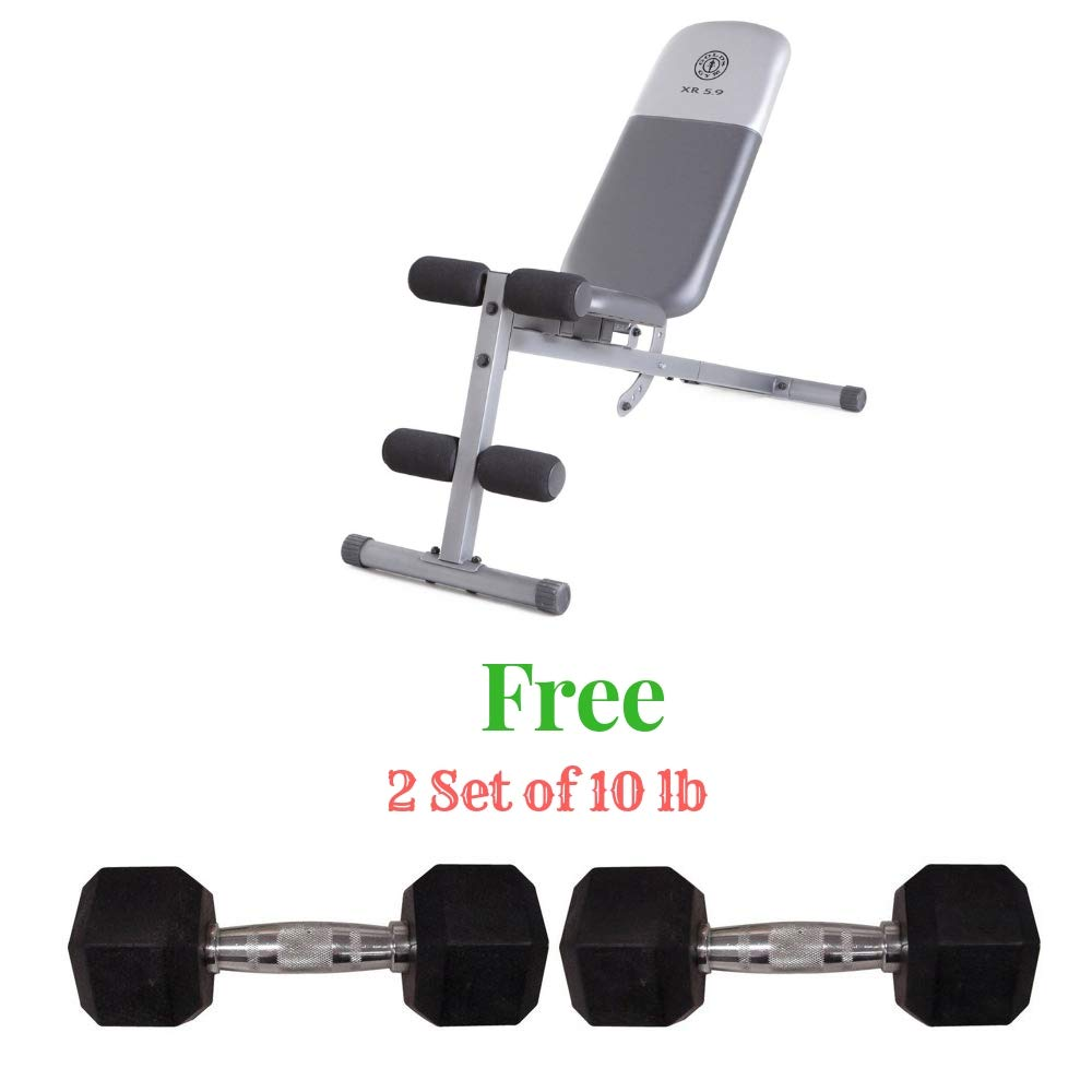 Golds Gym.. Workout Weight Bench (Bench Bundle, 40.00 x 18.25 x 53.50)