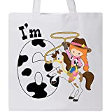 Inktastic - I'm Six-cowgirl riding horse birthday Tote Bag White 2ca3e