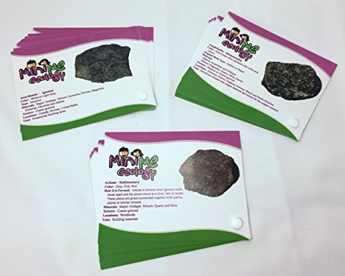 Igneous, Metamorphic and Sedimentary Rock Sample Identification Cards by Mini Me Geology