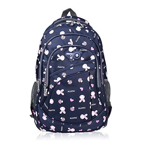 - Vbiger Girl's & Boy's Backpack for Middle School Cute Bookbag Outdoor Daypack (Royalblue(bunny))