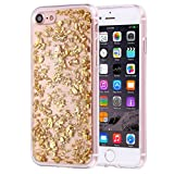 KrygerShield® Scattered Platinum iPhone 7 Gel Case Gold