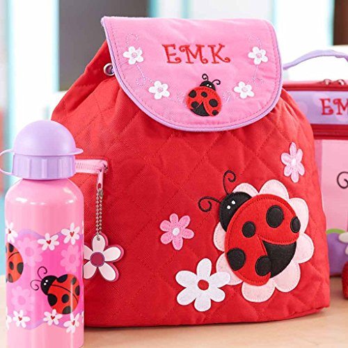 (Personalized Quilted Ladybug Toddler Backpack)