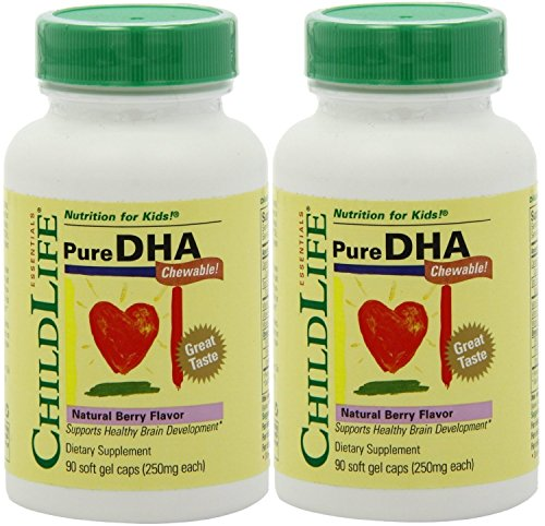 (Child Life Pure DHA Dietary Supplement, 90 Soft Gel Capsules (Pack of 2))