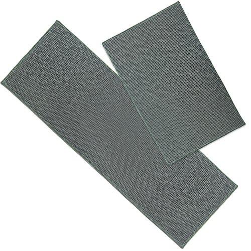Lifewit Bath Mat Runner Set Chenille 2 Pack Bathroom Mats Soft Kitchen Rug Water Absorbent Grey, 20'' x 31'' 20'' x 59'' by Lifewit