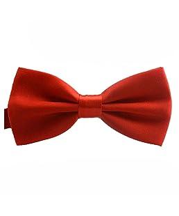 reglable Cravate - TOOGOO(R)La Nouveaute De La Mode Classic Mens Reglable Mariage De oking Cravate Noeud Papillon Rouge