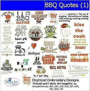 Amazon Com Machine Embroidery Designs Bbq Quotes 1