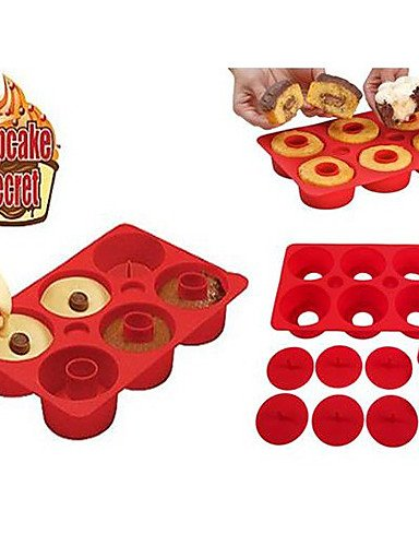 HJLHYL CUPCAKE SECRET Silicone Baking Mold Muffin Non Stick Pan Donut Maker