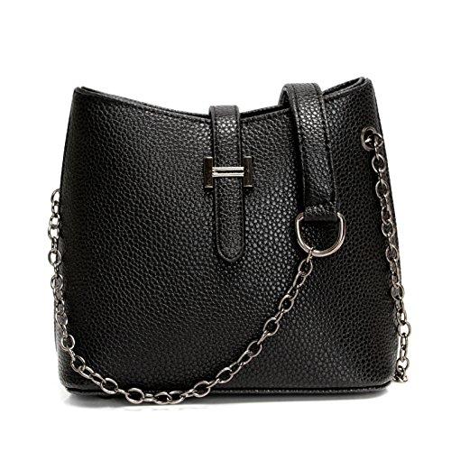 bolso de bolsa rojo simple casual Nuevo retro black cuchara hombro bolso moda d5HxBw