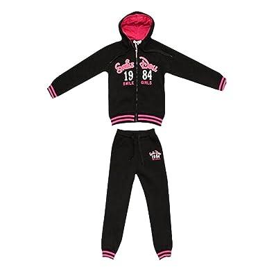 Fashion - Chándal - para niña negro 10 años: Amazon.es: Ropa y ...