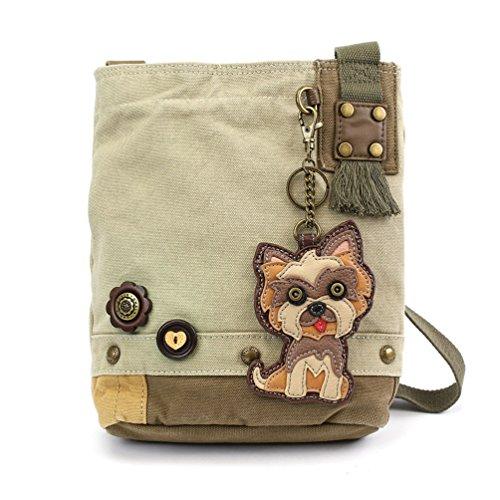 Chala Patch Cross-Body Women Handbag, Sand Color Canvas Messenger Bag (Yorkshire - Sand) ()