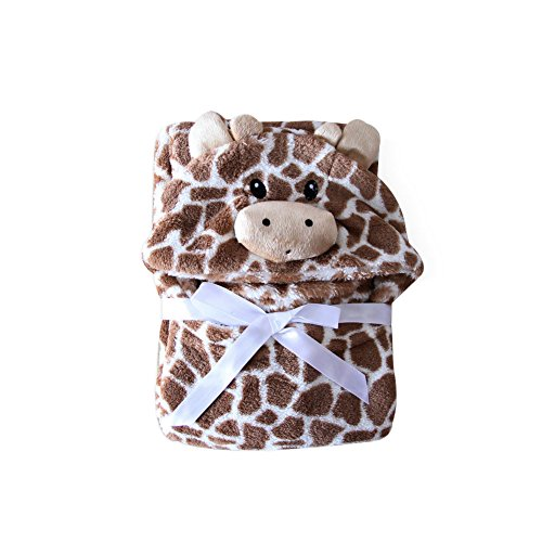 102 Fleece - Feicuan Baby Hooded Towels Bathrobes Fleece Blanket Girls Animal Pattern Wrap Sleepwear 0-7 Years Old 76cm x 102cm(29.9