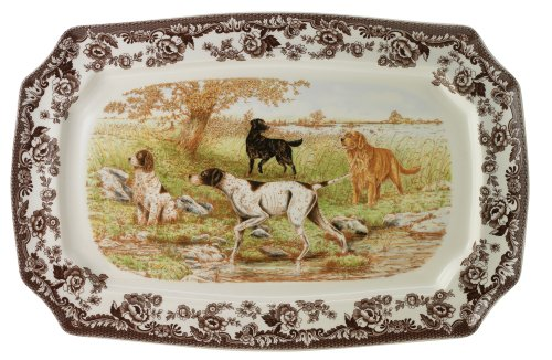 Spode Woodland Hunting Dogs Rectangular Platter
