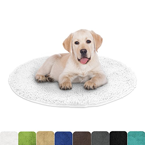 Mayshine 3 ft Diameter Round Dog bed Mats Chenille Soft Microfber Living Room Bedroom Area Rug - (Round Bath Rugs)
