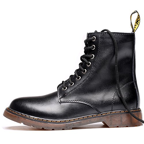 Sunny&Baby Men's Shoes Classic Leather Lace UP Oxfords High Top Boots For Gentlemen Abrasion Resistant (Color : Black, Size : 6.5MUS Big Kid)