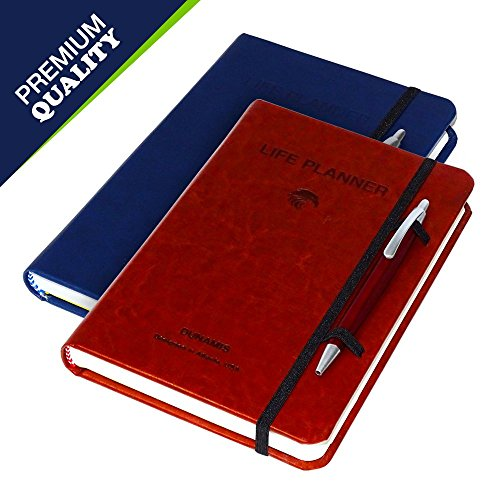 Dunamis Life Planner (Blue): Luxurious Undated Daily Organizer Journal for Time Management| Prioritize Daily Tasks, Make to-Do Lists & Increase Productivity | with 2 Bonuses- Bookmark & Beautiful Pen by Dunamis