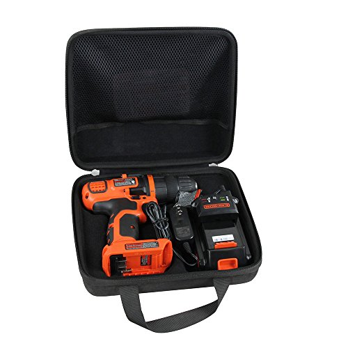Hermitshell Specially designed case fits Black+Decker LDX120C 20-Volt MAX Lithium-Ion Cordless Drill/Driver