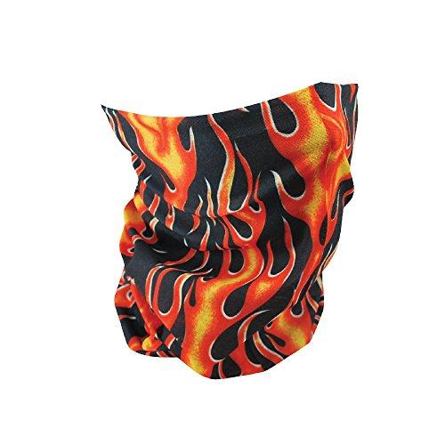 Zan Headgear T223, Motley Tube, Polyester, Classic Flames