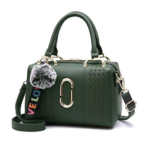 GWQGZ Bolso De Señora, Pu, Bandolera Sencilla Y Elegante, Cómodo Y Cómodo Bolso, Verde Green
