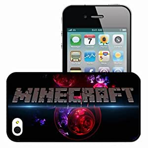 Personalized iPhone 5c Cell phone Case/Cover Skin Minecraft Logo Wallpaper Games Black